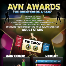 AVN Awards - The Creation of a Star Infographic