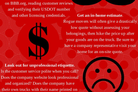 Avoiding Moving Scams Infographic