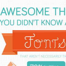 Awesome Things You Didn't Know About Fonts Infographic