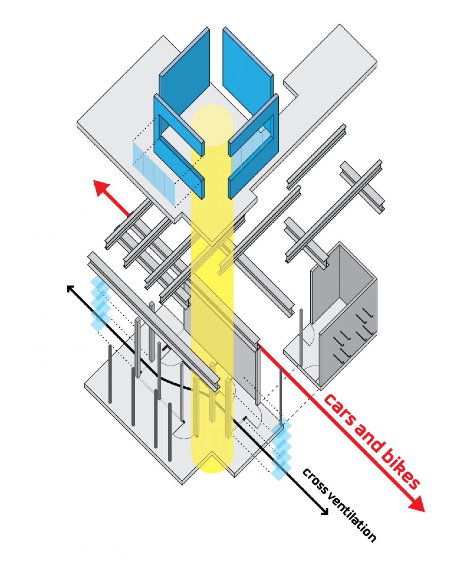 Axonometric Diagram Infographic
