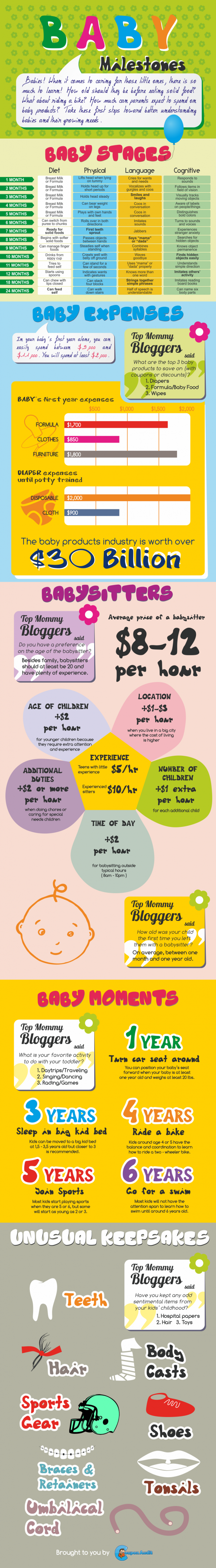 Baby Milestones Infographic
