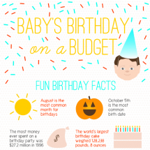 Baby's Birthday on a Budget Infographic