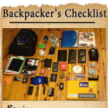 Backpackers Checklist Infographic