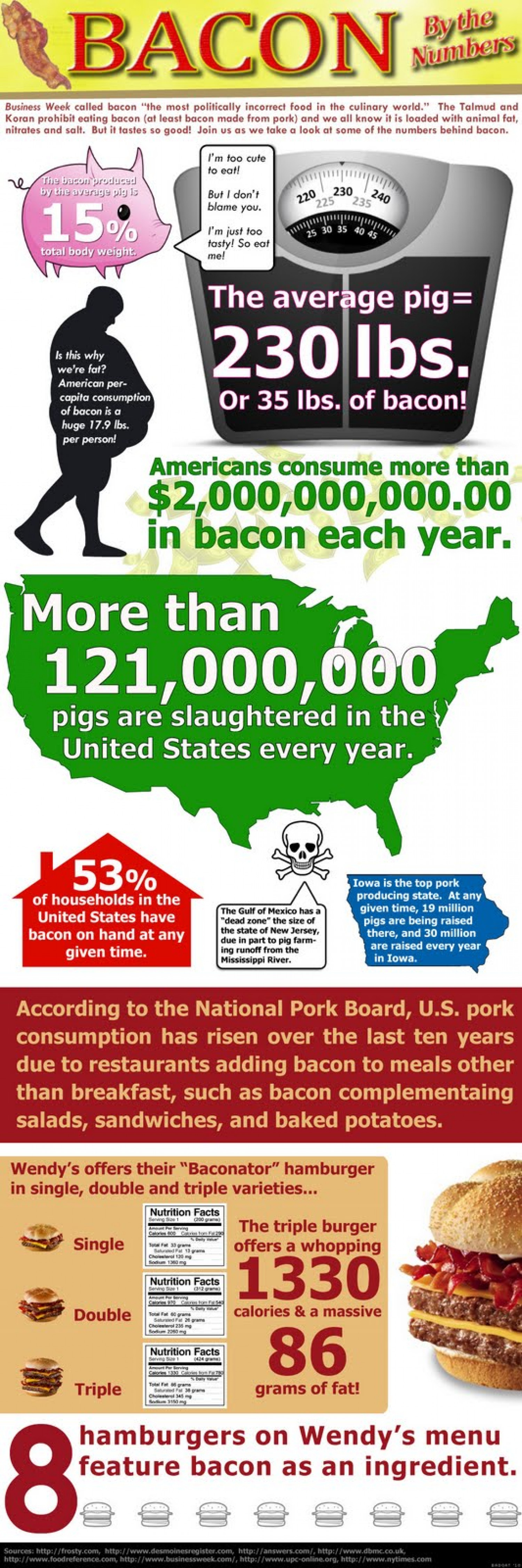 Bacon by the Numbers Infographic