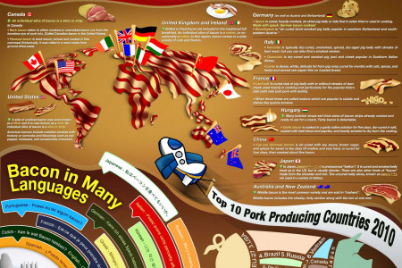 Bacon-Based Tourism Infographic