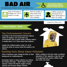 Bad Air - The Relationship Between Indoor Air Quality  Infographic