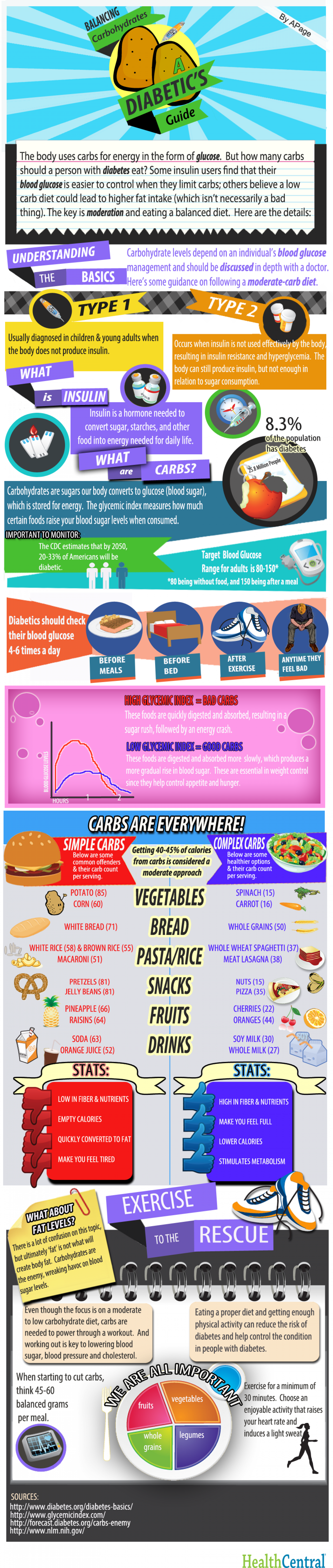 Balancing Carbs: A Diabetic's Guide Infographic
