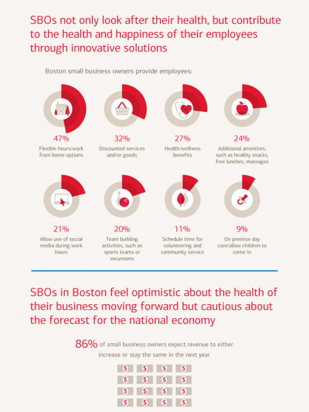 Bank of America Small Business Owner Report: Boston Local Breakdown Spring 2013 Infographic