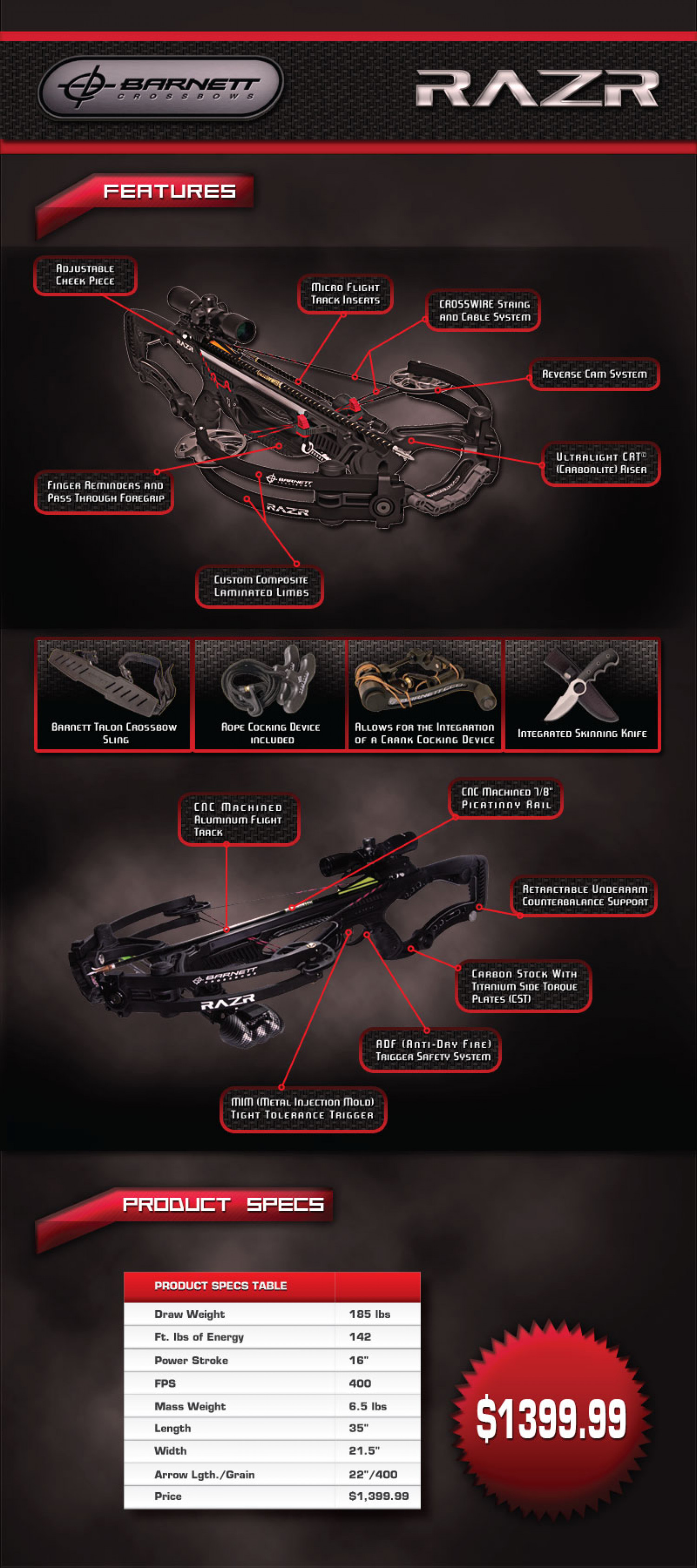 Barnett RAZR Crossbow Fall 2013 Infographic