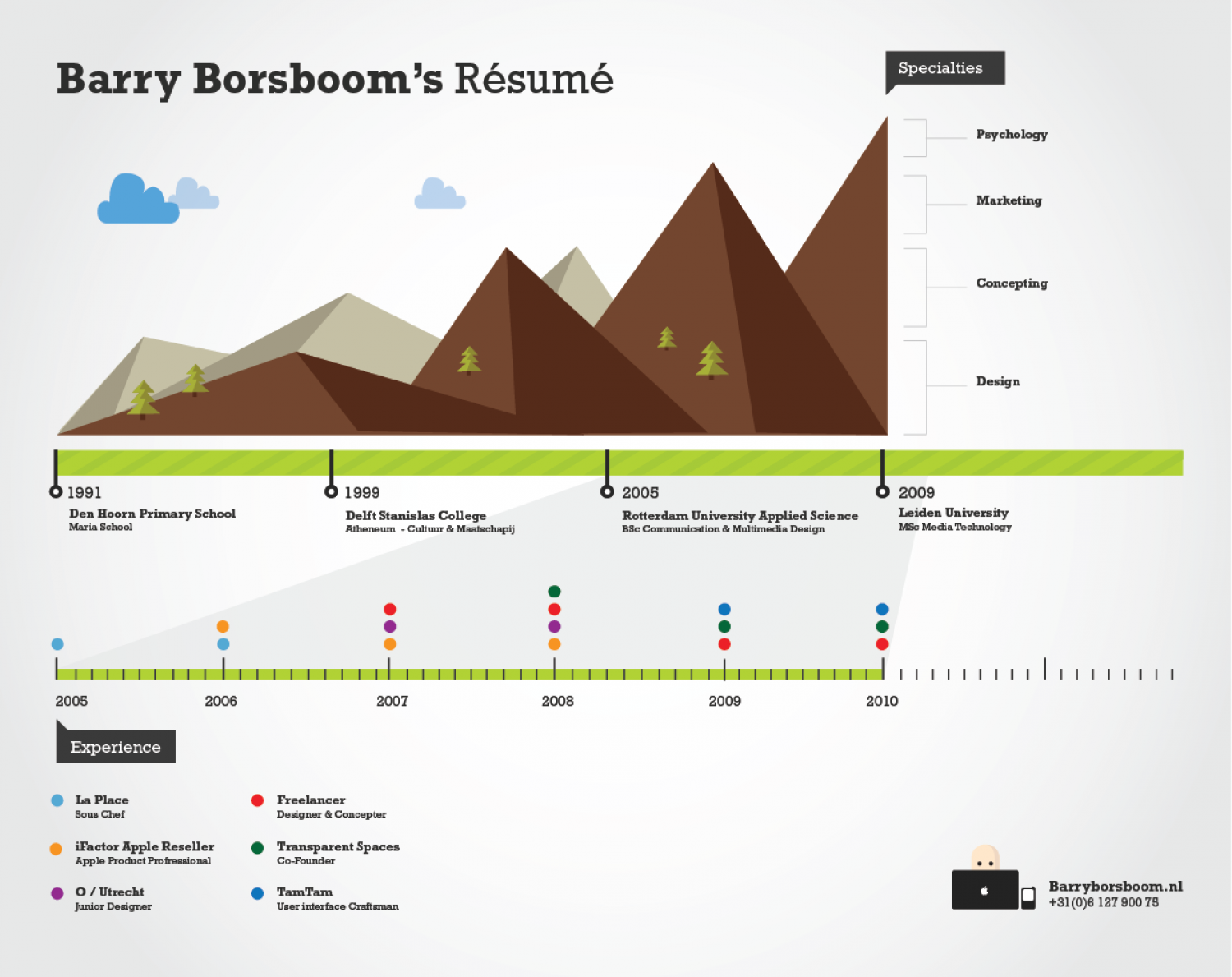 Barry Borsboom Resume Infographic