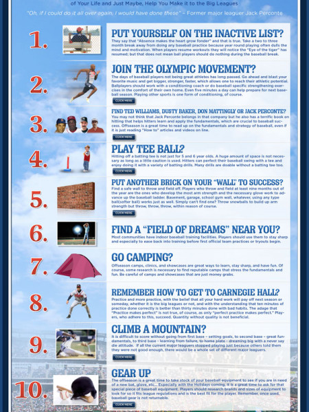 Baseball Coaching Tips Infographic