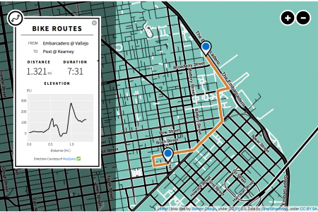 Bay Area Bike Share Interactive Map Infographic