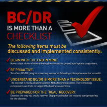 BC/DR Is More Than a Checklist Infographic