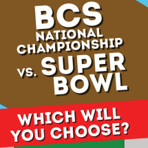 BCS National Championship vs. Super Bowl Infographic