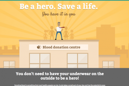 Be a hero. Save a life. Infographic