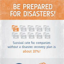 Be Prepared for IT Disasters Infographic
