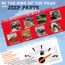Be The King Of The Road With Jeep Parts Infographic