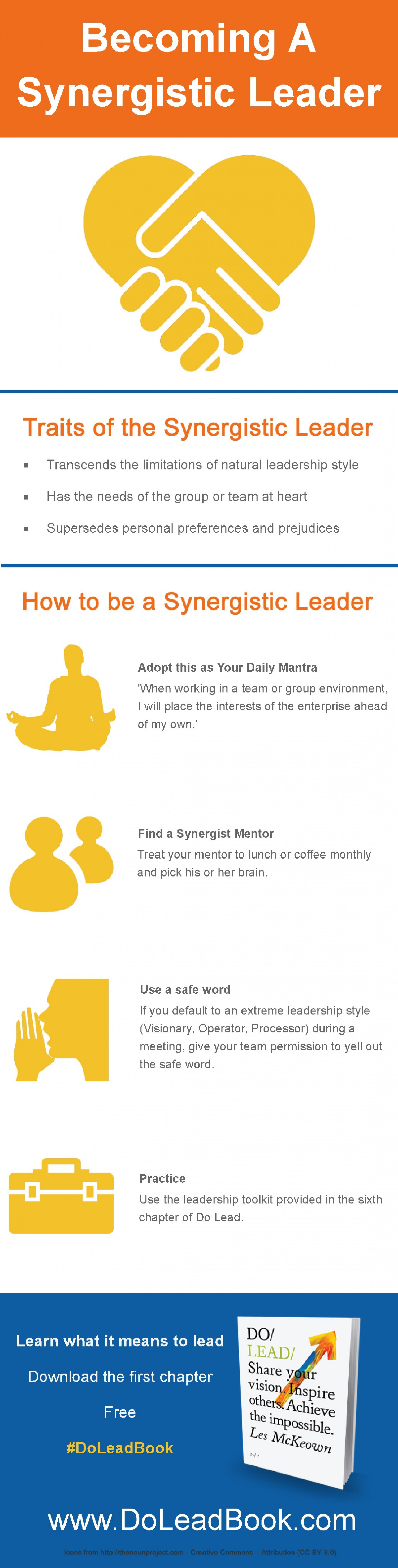 Becoming a Synergistic Leader Infographic