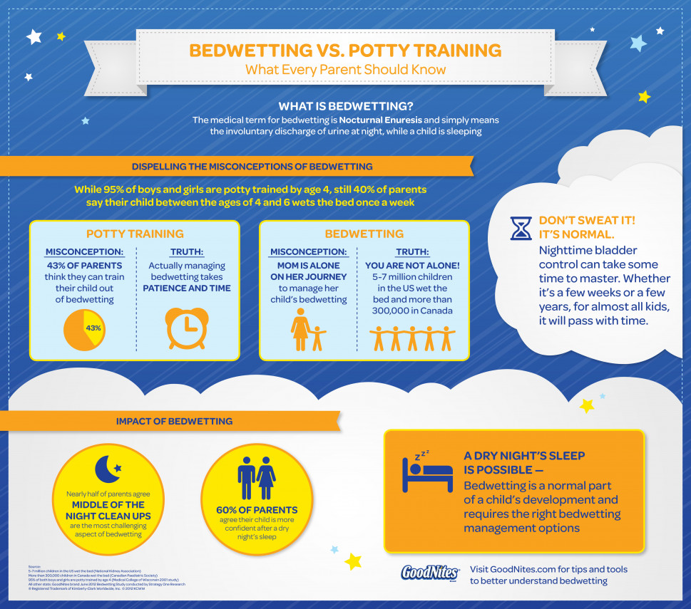 Bedwetting vs. Potty Training Infographic  Infographic