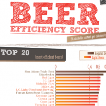 Beer Efficiency Score Infographic