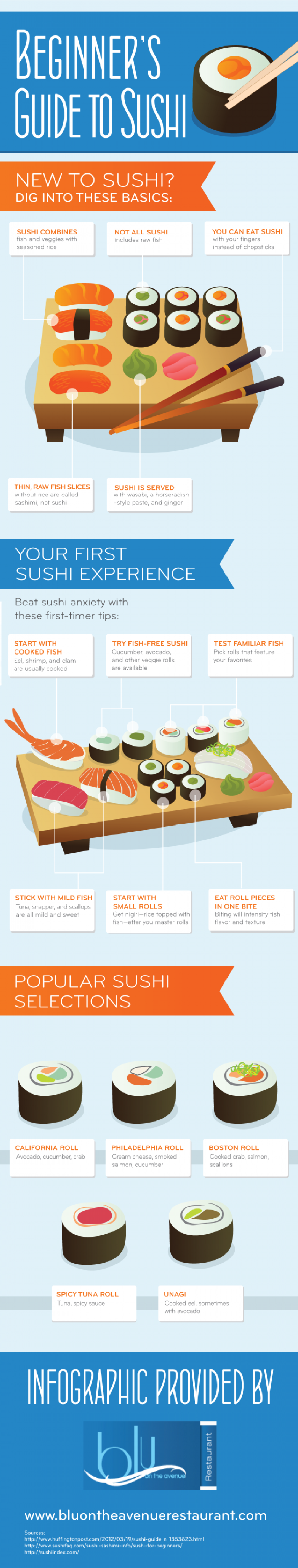 Beginner's Guide to Sushi Infographic