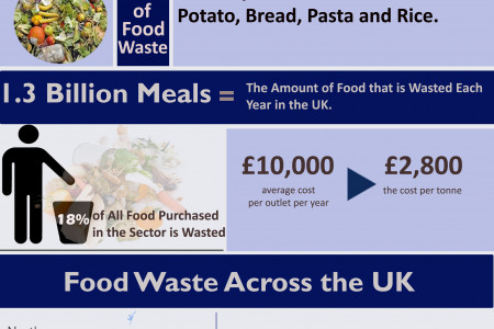 Benefits & Ways to Reduced Food Waste Infographic