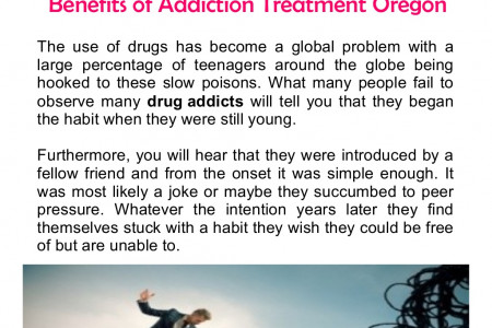 Benefits of Addiction Treatment Oregon Infographic