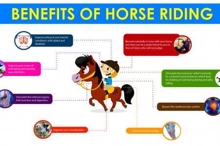 Benefits of Horse Riding Infographic