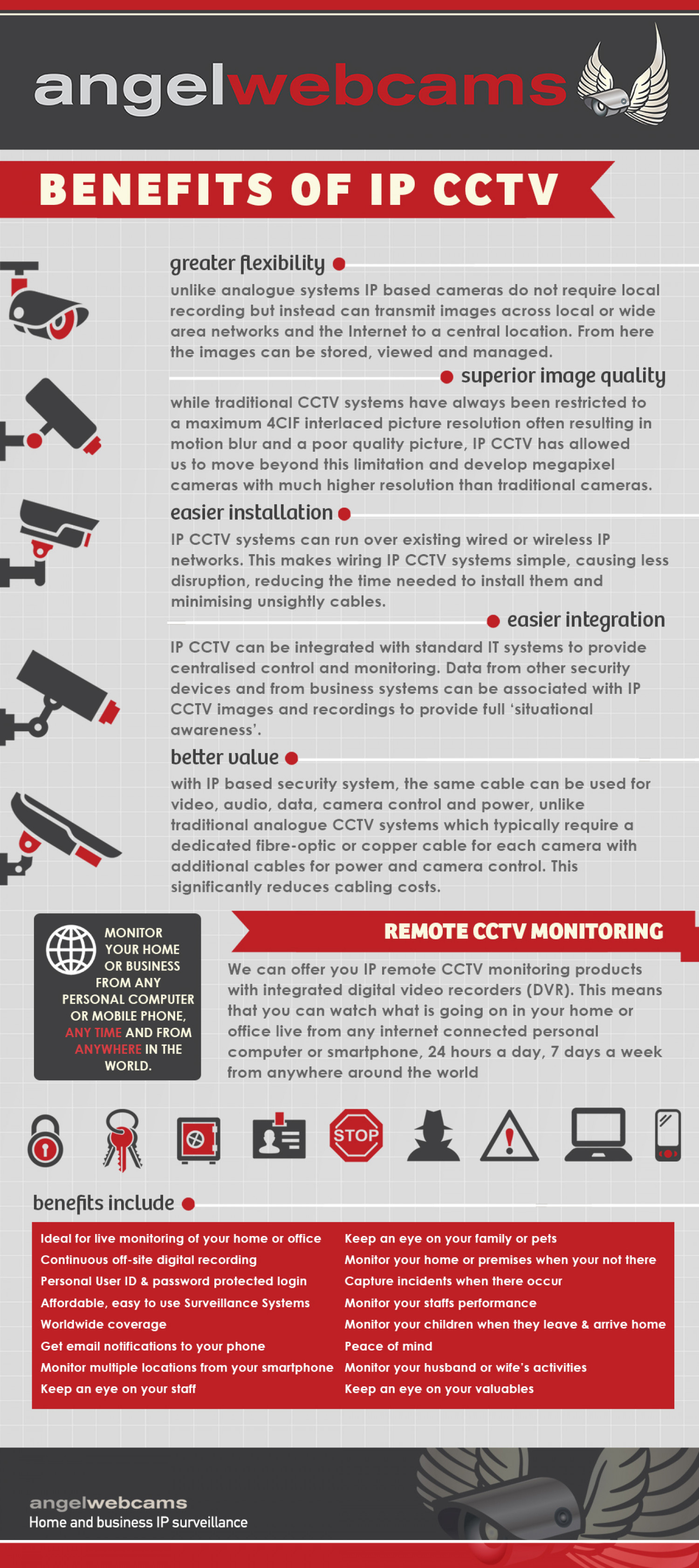 Benefits of IP CCTV Infographic