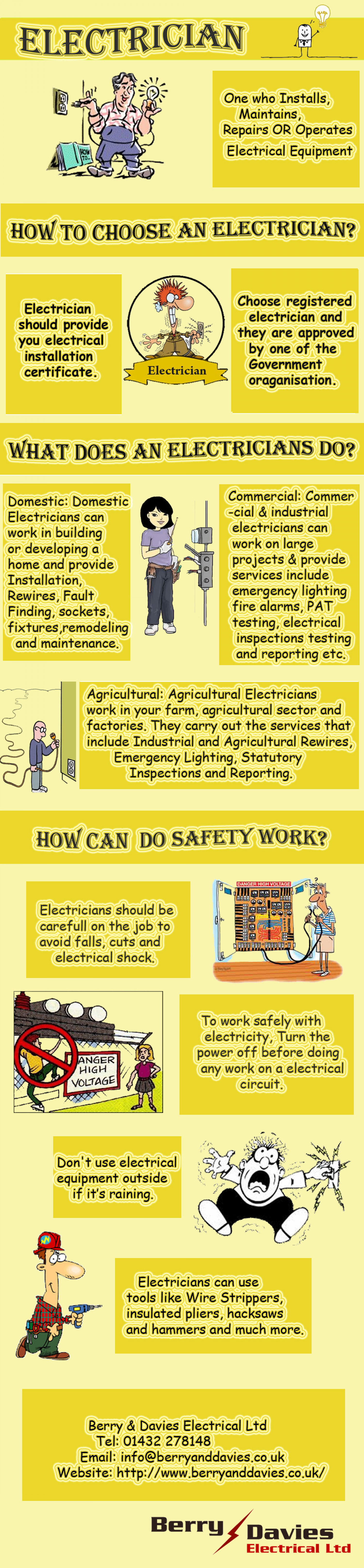Berry & Davies Electrician in Hereford Infographic