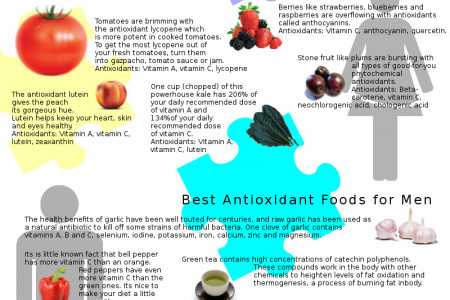 Best Antioxidant Foods for Men and Women Infographic