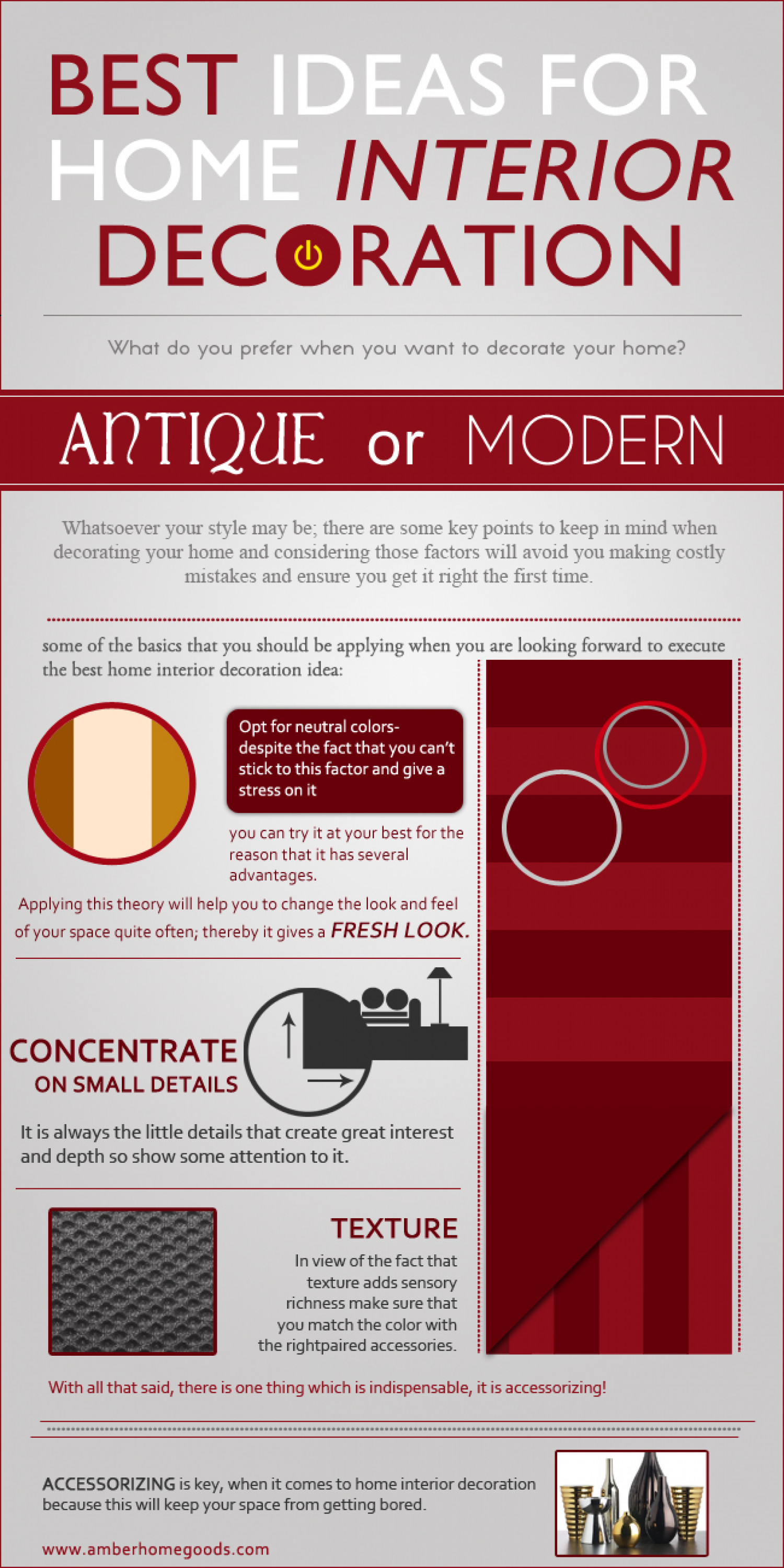 Best ideas for home interior decoration Infographic