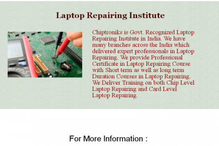 Best Laptop Repairing Institute in India Infographic