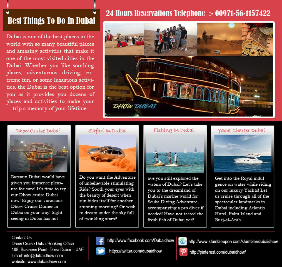 Best Things to do in Dubai Infographic