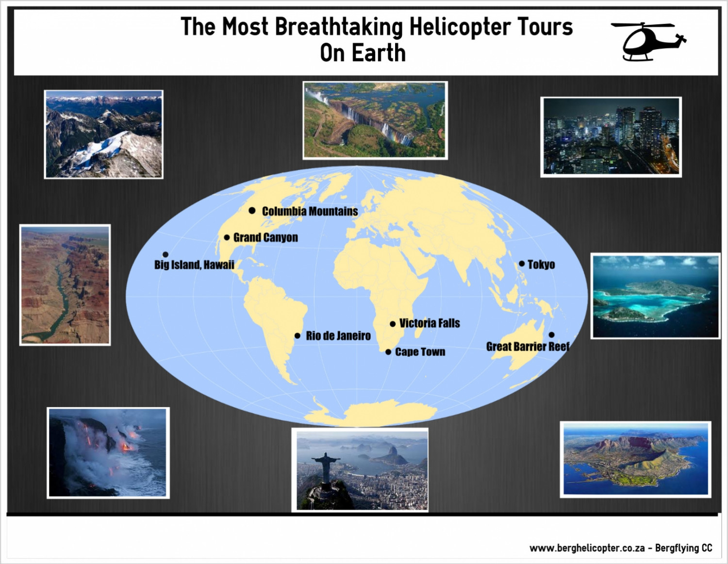 Bets helicopter tours Infographic