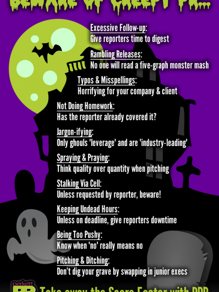 Beware of Creepy PR Infographic