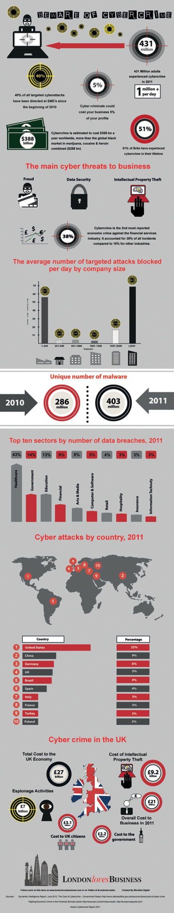 Beware of Cyber attacks Infographic
