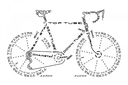 BICYCLE TYPOGRAM Infographic