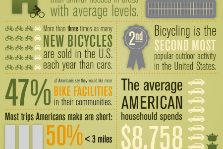 Bicycling in the US Infographic