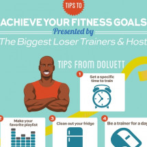 Biggest Loser Tips to Achieve your fitness goals Infographic