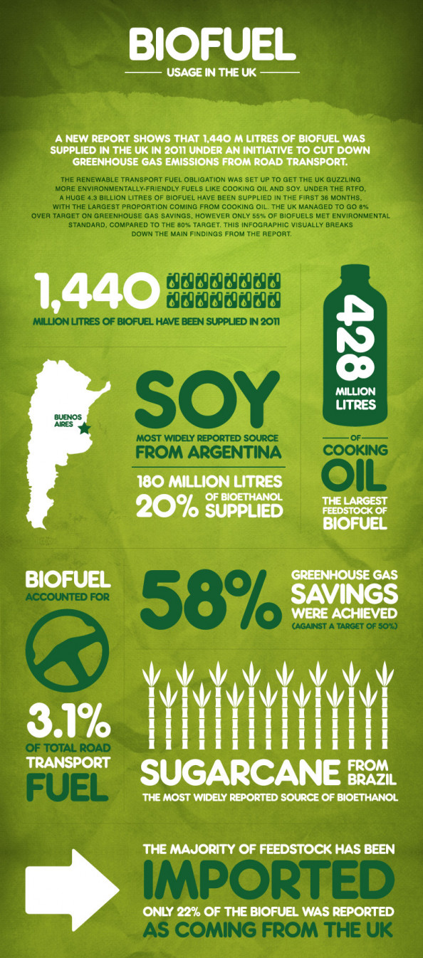 Biofuel usage in the UK Infographic