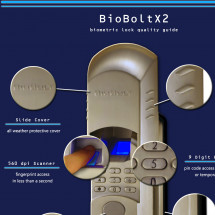 Biometric Deadbolt Quality Guide Infographic