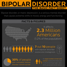Bipolar Disorder: the Basic Fact Sheet Infographic