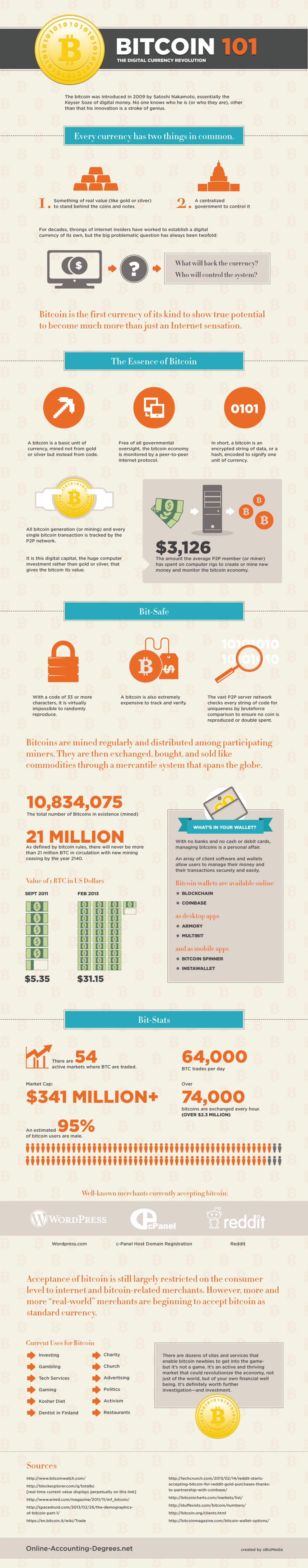 Bitcoin 101: The Digital Currency Revolution Infographic