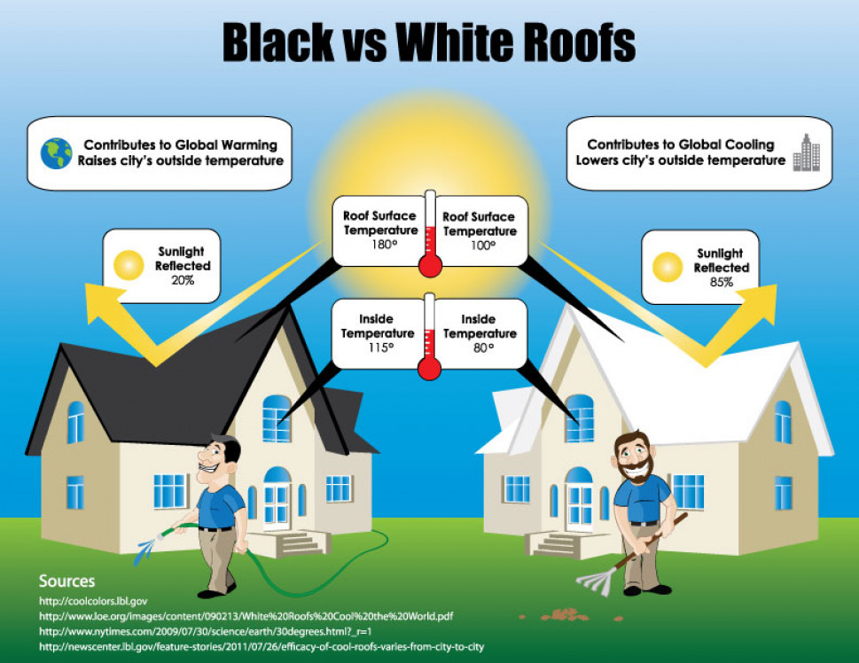 Black Vs White Roofing Infographic
