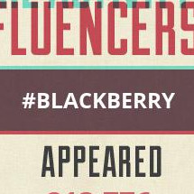 Blackberry Appeared Times in Past Month Infographic
