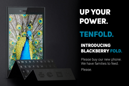 Blackberry Fold Set To Monopolise The Useless Phone Market Infographic