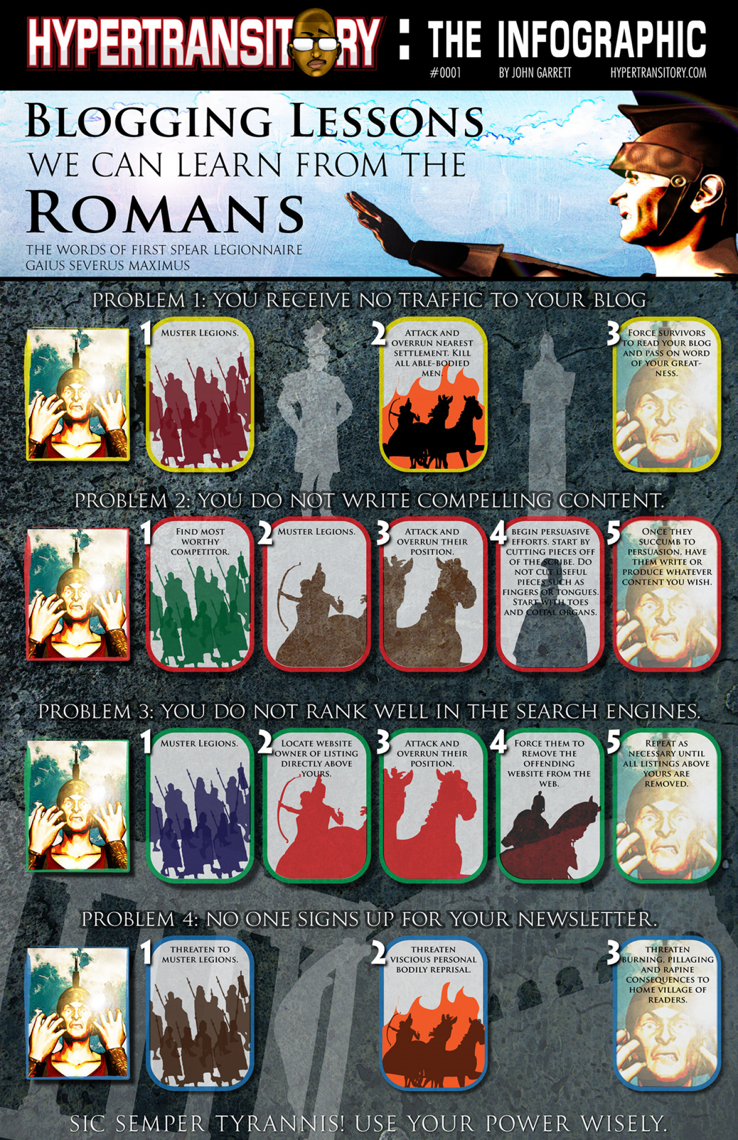 Blogging Lessons We Can Learn From the Romans Infographic