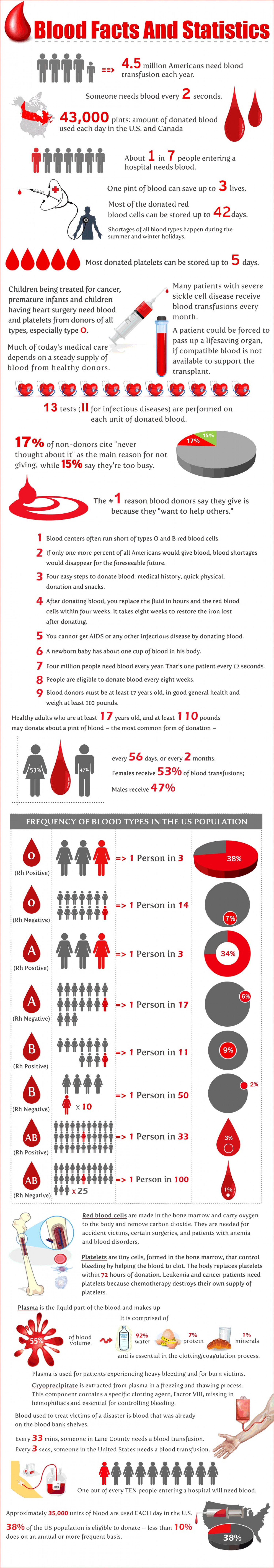 Blood Facts and Statistics Infographic