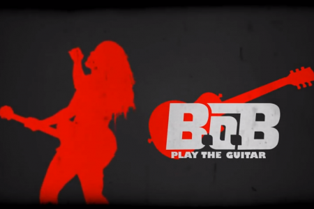 B.O.B. Play the Guitar Kinetic Typography lyric video Infographic